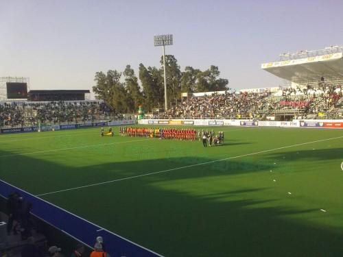 Selecciones hockey España e Inglaterra