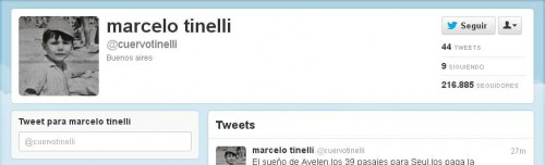 Marcelo Tinelli Twitter